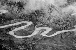 Limited edition fine art cycling print of the famous Gotthard Pass hairpin road in Switzerland. Shot for Cyclist Magazine by Patrik Lundin - cycling prints, fine art cycling print, limited edition prints, limited edition cycling prints, cycling photos, cycling images, cyclist, hairpin, hairpin road, cycling, cyclist magazine
