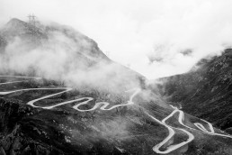 Limited edition fine art cycling print of the famous Gotthard Pass cobbles on the hairpin road in Switzerland. Shot for Cyclist Magazine by Patrik Lundin - cycling prints, fine art cycling print, limited edition prints, limited edition cycling prints, cycling photos, cycling images, cyclist, hairpin, hairpin road, cycling, cyclist magazine, gift, gift for cyclists