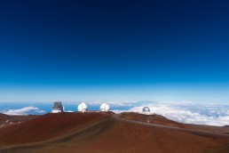 Limited edition fine art landscape print of the Mauna Kea Observatory on the Big Island in Hawaii. Shot for Cyclist Magazine by Patrik Lundin - cycling prints, fine art cycling print, limited edition prints, limited edition cycling prints, cycling photos, cycling images, cyclist, hairpin, hairpin road, cycling, cyclist magazine, gift, gift for cyclists